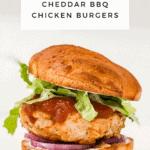 Sweet Potato Cheddar BBQ Chicken Burgers