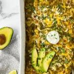 Easy Salsa Verde Turkey & Black Bean Enchiladas (Gluten Free)