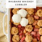Strawberry Rhubarb Whiskey Cobbler
