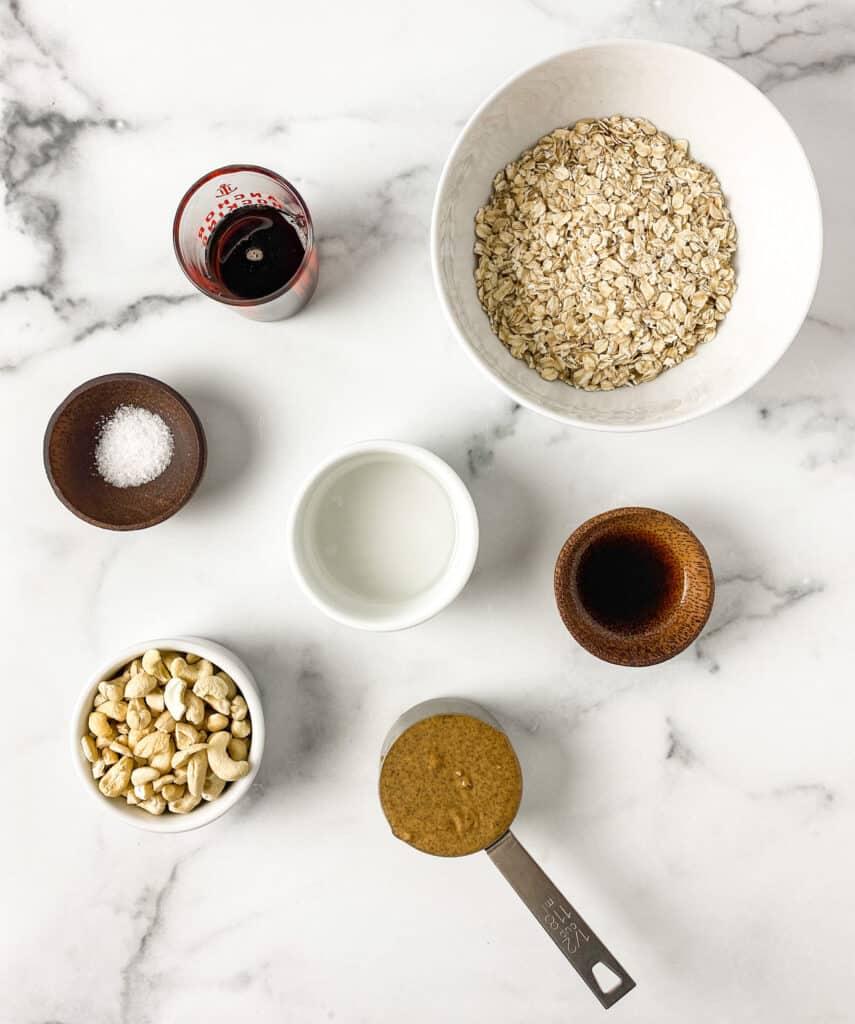 Cashew Cookie Granola Ingredients