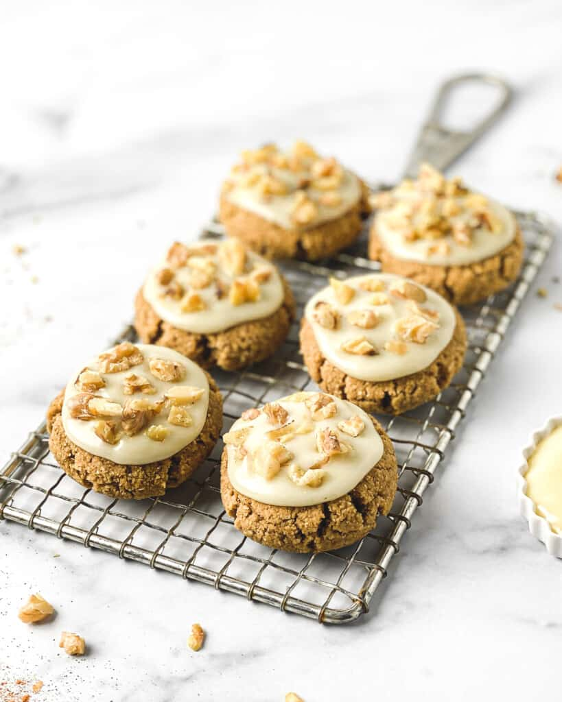 Healthy Banana Bread Cookies w/ Cream Cheese Frosting