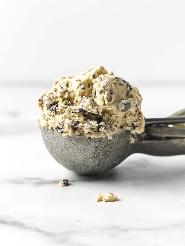 Sea Salt, Honey, and Dark Chocolate Chunk No Churn Ice Cream (Gluten Free)
