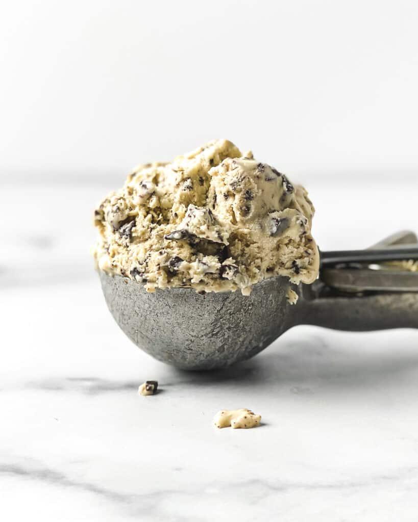 Sea Salt, Honey, and Dark Chocolate Chunk No Churn Ice Cream