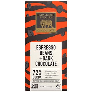 Endangered Species Espresso Beans + Dark Chocolate