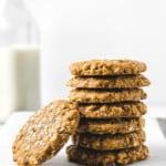 Wholesome Gluten Free Peanut Butter Oatmeal Pecan Cookies