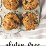 Healthier Gluten Free Bakery Style Blueberry Muffins