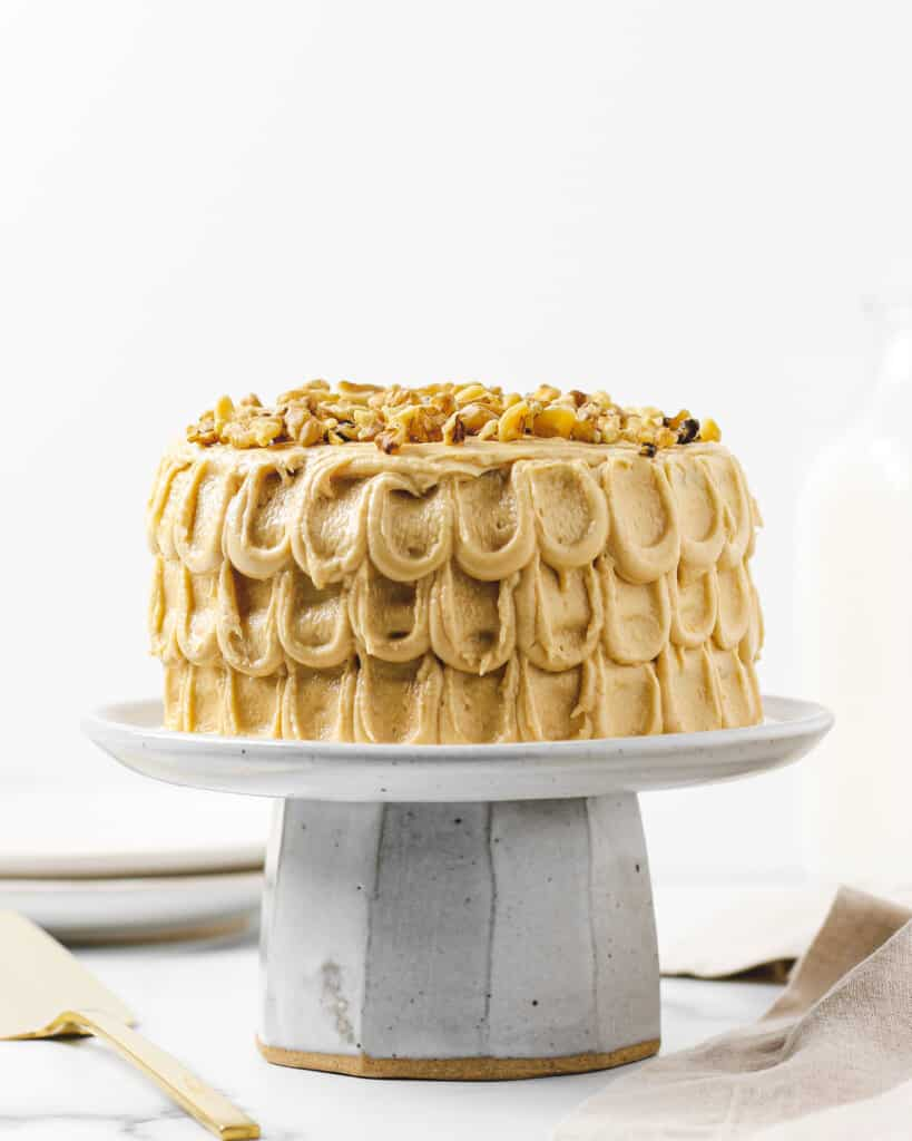 Banana Cake with Peanut Butter Cream Cheese Frosting