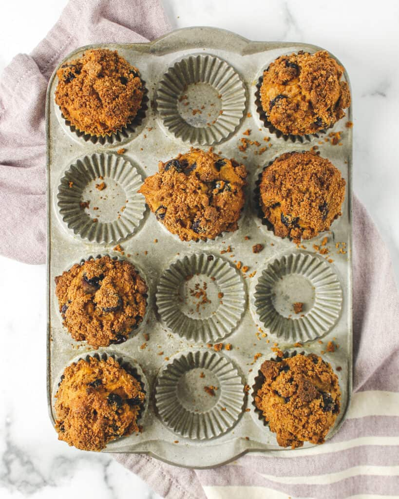 Healthier Bakery Style Blueberry Muffins