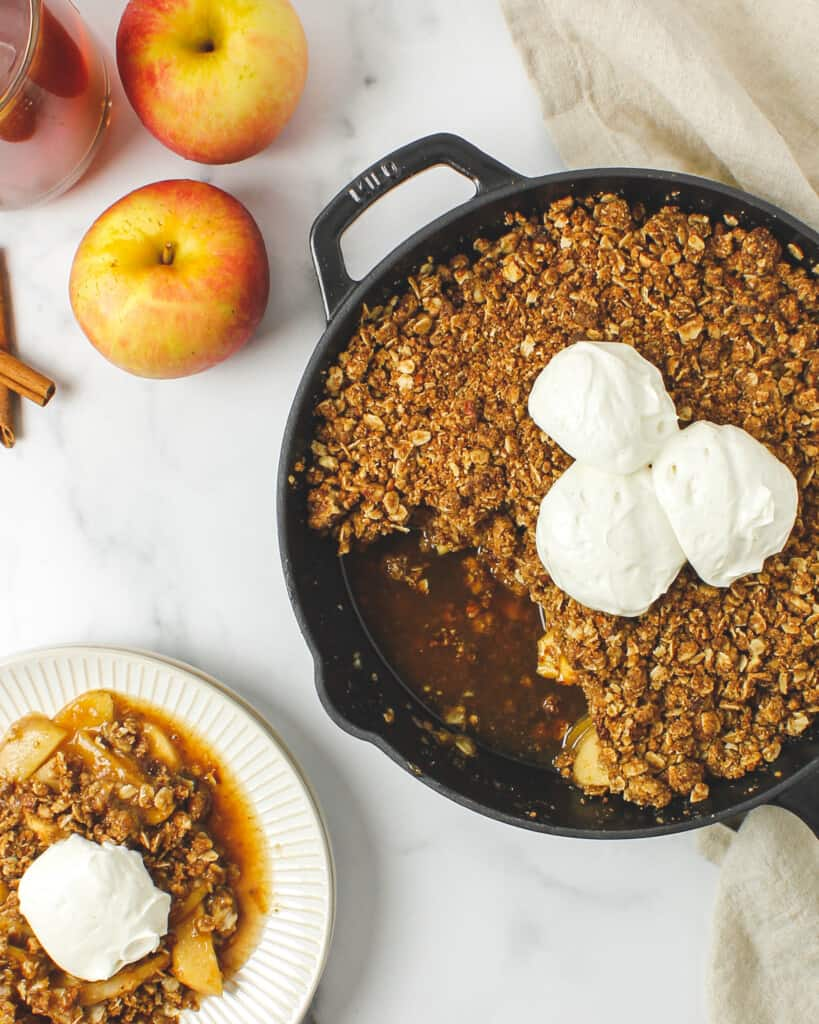 Maple Whiskey Apple Cinnamon Crisp