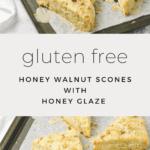 Honey Walnut Scones with Honey Glaze