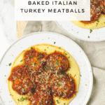 Healthy Baked Italian Turkey Meatballs