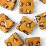 Pumpkin Cheesecake Brownie Bars with Peanut Butter Cups