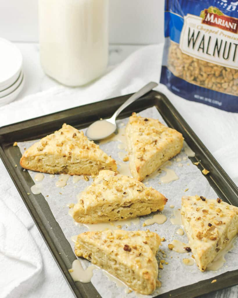 Honey Walnut Scones with Honey Glaze