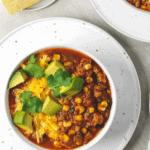 Black Bean And Corn Chipotle Turkey Chili