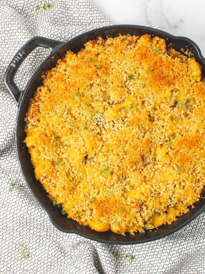 Spinach Bacon Pumpkin Mac & Cheese
