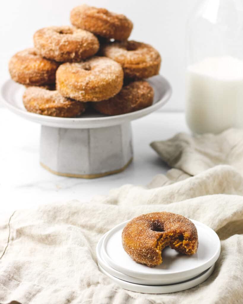 Baked Cinnamon Sugar Pumpkin Spice Donuts