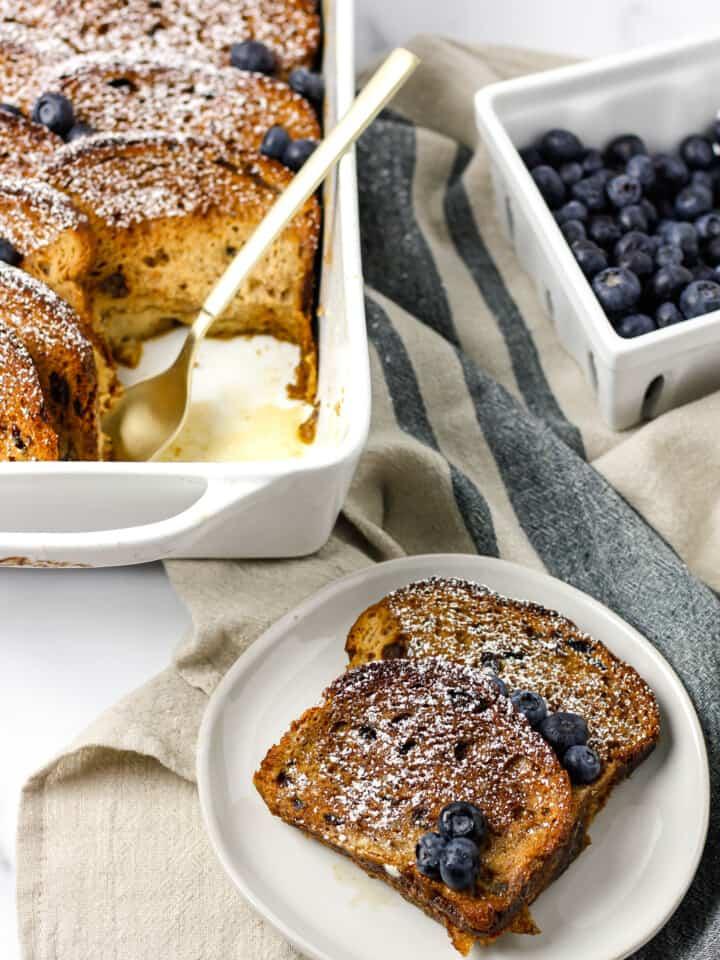 Gluten Free Cinnamon Raisin French Toast Bake