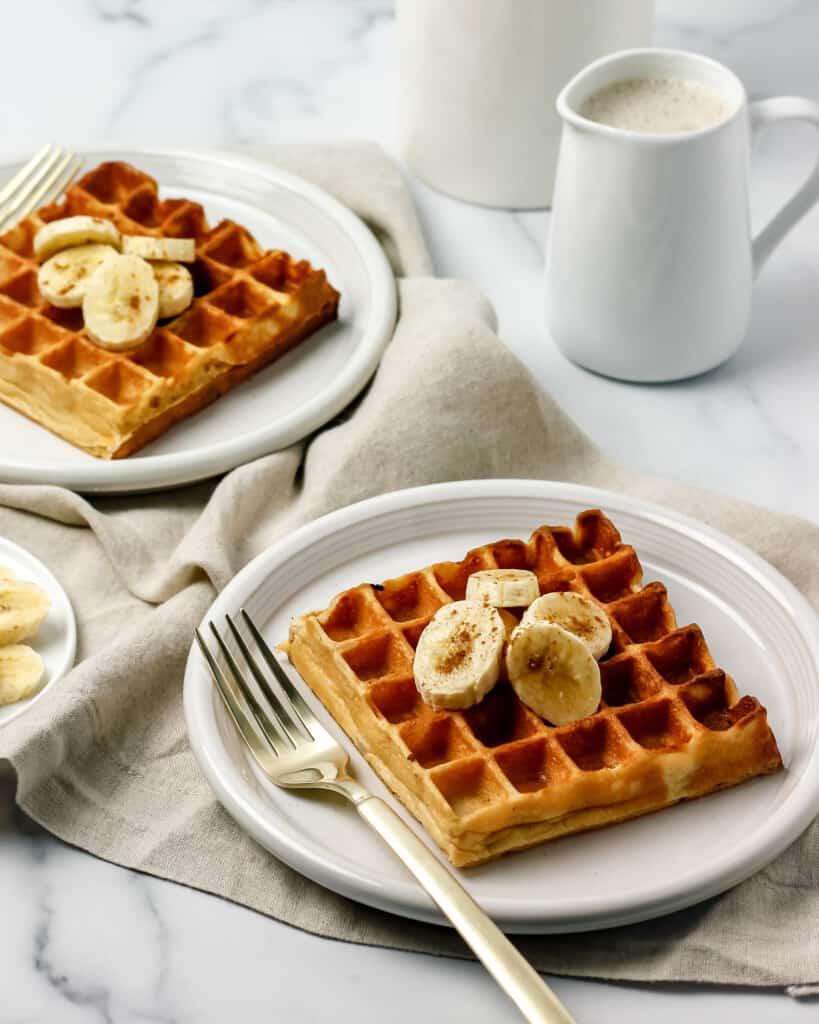 Greek Yogurt Banana Waffles