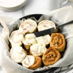 Quick No Yeast Sticky Pecan Cinnamon Rolls
