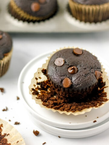 Flourless Chocolate Black Bean Muffins