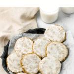 Tahini Iced Oatmeal Cookies