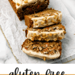 Gluten Free Oat Flour Carrot Cake Banana Bread With Cream Cheese Frosting