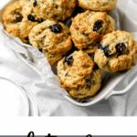Gluten Free Lemon Blueberry Scones