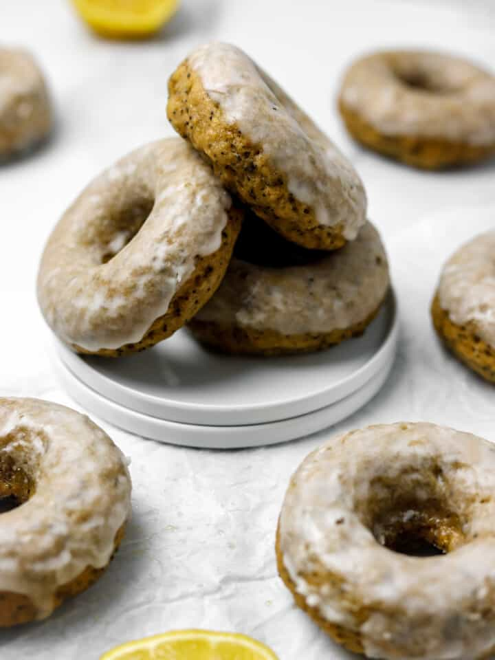 Gluten Free Lemon Poppy Seed Donuts
