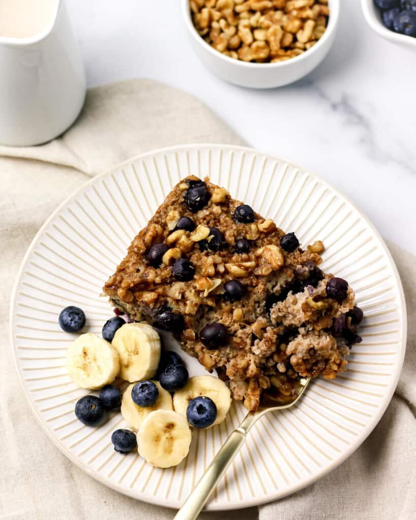 Gluten Free Blueberry Banana Baked Oatmeal