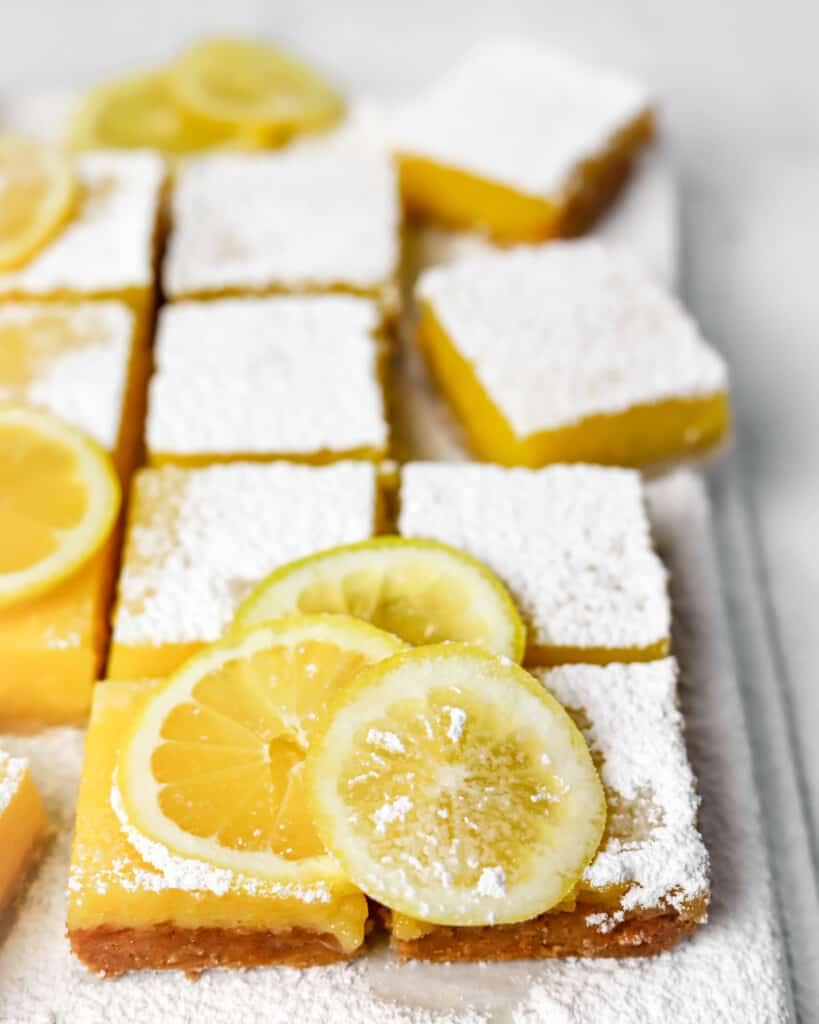 Gluten Free Lemon Bars with Almond Shortbread Crust