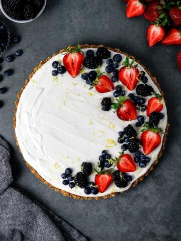 Gluten Free Greek Yogurt Cheesecake with Granola Crust