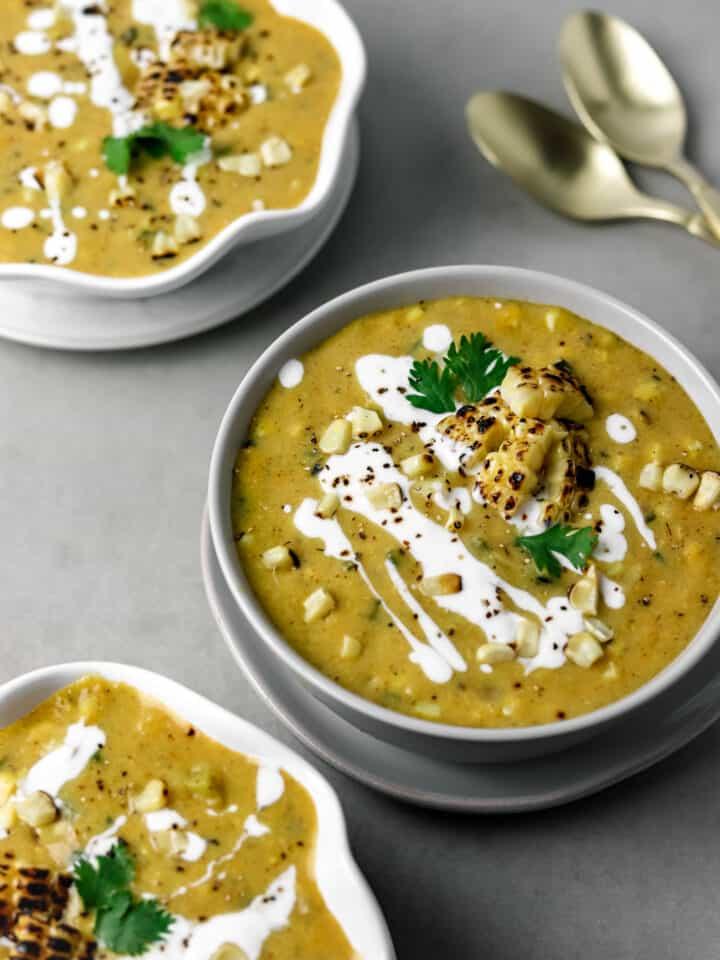 Creamy Roasted Corn Chowder (Gluten Free)