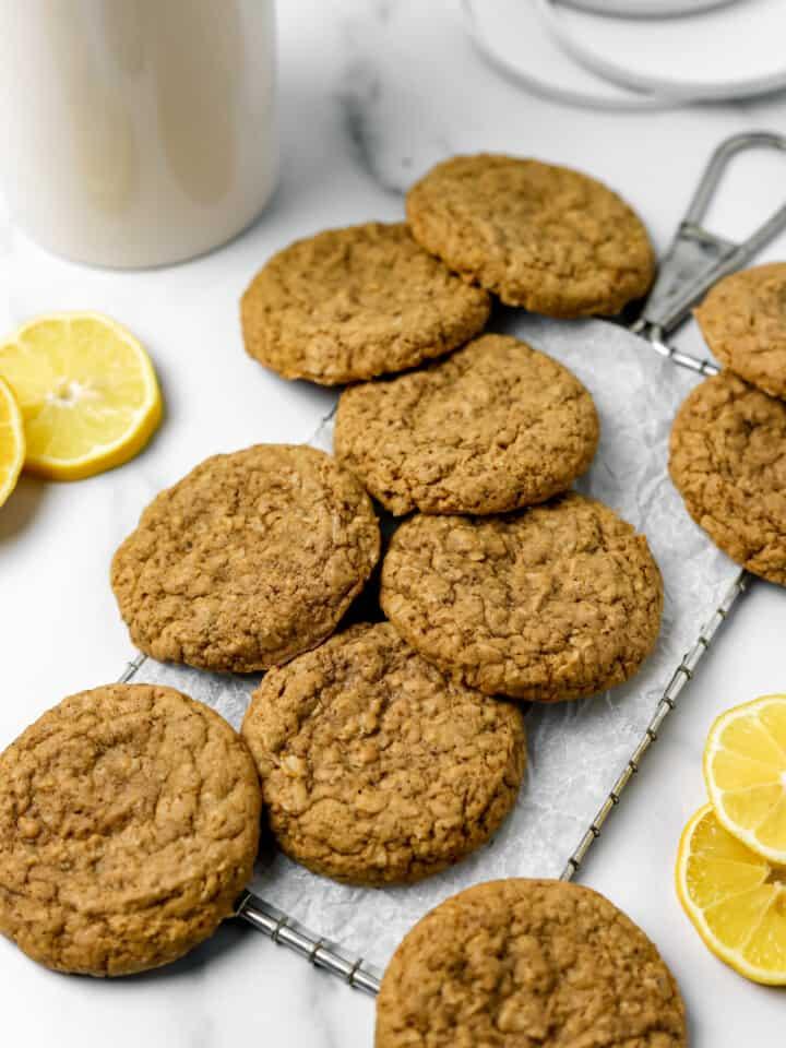 Gluten Free Lemon Ginger Oatmeal Cookies