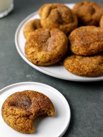 Gluten Free Brown Butter Pumpkin Snickerdoodle Cookies